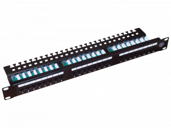 "Patch panel UTP kat.5e 24 porty LSA z półką 1U/19"" PK013 Alantec"