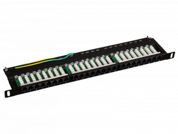Patch panel OPTIMUM UTP kat.5e 24 porty LSA 0.5U PK032 Alantec