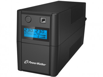 UPS Power Walker Line-Interactive 850VA, 2x 230V PL OUT, RJ11 in/out, usb, lcd, bateria 12V 9A VI 850 SHL FR POWER WALKER