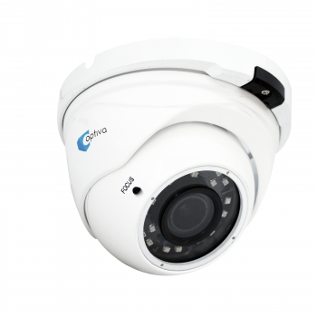 Kamera Multi-HD typu domed, 2Mpix, ob. 2.8-12mm, IR 30m, biała, IP66 VOHDX973 OPTIVA2B