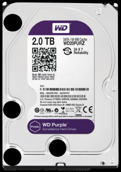 Dysk twardy HDD do CCTV 2TB Western Digital WD20PURZ WD