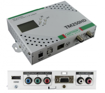 Modulator TV, (DVB-T,DVB-C lub streamer IP), wej.:HDMI, VGA, COMPONENT TM250HD TELMOR