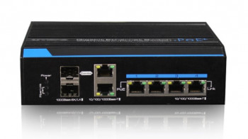 Switch OPTIVA PoE Gigabit, 6 portów GB, 4xPoE/PoE+/1 port HiPoE, 2xSFP VONT-SP1504 OPTIVA2B