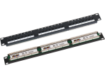 PK-U6-1 Q-LANTEC Patch panel 1U/19 cali UTP, 24p
