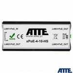 XPOE-4-11-HS ATTE Extender, switch PoE, 4 porty 10/100Mbps (1xPoE IN 802.3at/af + 3xPoE OUT)